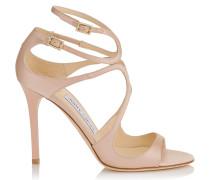 Lang Sandalen aus rosanem Satin