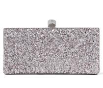 Celeste/s Clutch aus hellfliederfarbenem Glitzergewebe mit würfelförmigem Clipverschluss