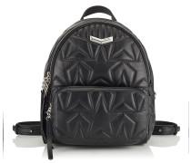 Helia Backpack Rucksack aus Matelassé-Nappaleder in Schwarz mit geprägtem Stern-Design
