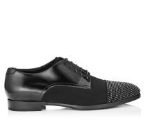Penn Mokassins aus glänzendem schwarzen Kalbsleder mit Nieten