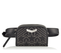 Helia Camera Kameratasche aus Matelassé-Nappaleder in Schwarz mit Stern-Design und Mininieten
