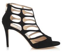 REN 85 Sandalen aus schwarzem Wildleder