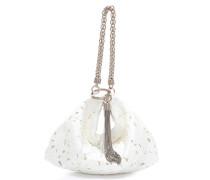 Callie Abend-Clutch aus weißem Spitzengewebe mit Perforation