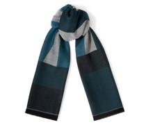 Jude Großer Schal aus feiner Wolle in Dunkelgrün
