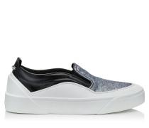 Choo V.b.c Slip On/f Sneaker aus feinem schwarzen und mehrfarbigem Glitzergewebe
