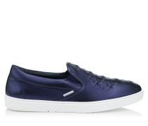 Grove Slip-On-Sneaker aus dunkelblauem Nappaleder mit Relief-Sternen