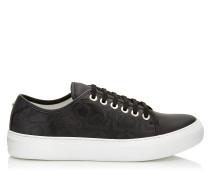 Aiden Sneaker aus schwarzem Leder mit Sternlogo