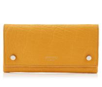Laina Brieftasche aus goldenem genarbten Leder