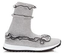 Eugene Sneaker aus Gewebe in Schwarz und Silber