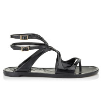 Sandalen aus schwarzem Gummi