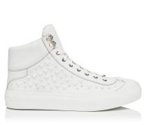 Argyle Sneaker aus ultraweißem Kalbsleder mit Sternen