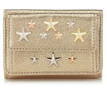 Nemo Portemonnaie aus goldenem Glitzerleder mit Sternen in Rose Gold