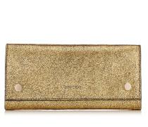 Laina Brieftasche aus goldenem Ziegenleder in Metallic-Optik