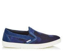 Grove Slip-On-Sneaker aus Denim-Jacquard in Dunkelblau Mix mit Tarnmuster