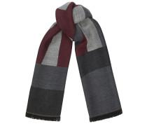 Jude Schal aus traubenfarbener und grauer Wolle mit Markenlogo