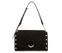 Lockett Shoulder BAG Handtasche aus schwarzen Wildleder