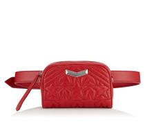 Helia Camera Kameratasche aus Matelassé-Nappaleder in Rot mit geprägtem Stern-Design