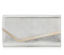 Emmie Clutch aus Glitzerleder in Champagner