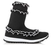 Eugene Sneaker aus Gewebe in Schwarz und Weiß