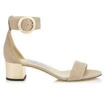 Jaimie 40 Sandaletten aus Wildleder in Ballettrosa mit rundem Schnallenverschluss