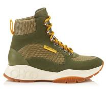 Inca/m Sneaker aus Techno-Netzgewebe und Leder Mix in Armeegrün