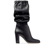 Maxyn 85 Kniehohe Stiefel aus schwarzem Nappaleder