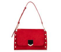 Lockett Shoulder BAG Handtasche aus rotem Wildleder