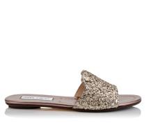 Nanda Sandaletten aus grobem Glitzergewbe in Antikgold