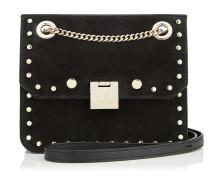 Rebel/xb Handtasche aus schwarzem Leder mit runden Nietendetails