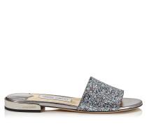 Joni Flat Sandalen aus Glitzergewebe in Bubble Gum