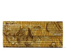 Sweetie Clutch aus goldenem Brokat-Acryl