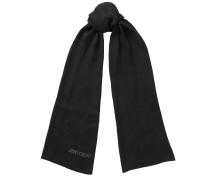 Layla Schal aus schwarzer Seide und Motiv aus Spitze
