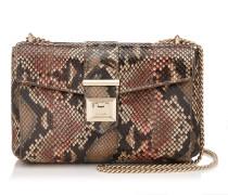 Marianne Shoulder BAG Tasche aus bemaltem Pythonleder in Rosenholz