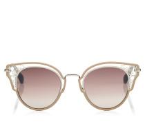 Dhelia Sonnenbrille aus Metall in Nude und Palladium