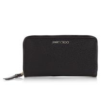 Pippa Brieftasche aus weichem genarbtem schwarzen Ziegenleder