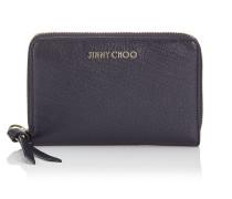 Christie Brieftasche aus weichem genarbtem Ziegenleder in Dunkelblau