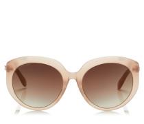 Etty Ovale Sonnenbrille mit nudefarbenem Gestell und braun-goldenen schattigen Gläser