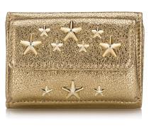 Nemo Kleines Portemonnaie aus Glitzerleder mit Sternen in Gold