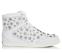 Tokyo Sneaker aus weißem Leder und Sternen