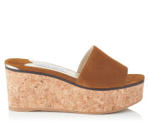 Deedee 80 Wedges aus Wildleder in Muskat
