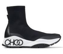 Raine Sock/f Sneaker aus schwarzem Stretch-Gewebe