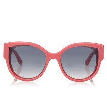 Pollie Cat-Eye Sonnenbrille in Pink mit Sterndetails