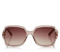 Sammi Sonnenbrille mit nudefarbenem Gestell und braunen schattigen Gläsern