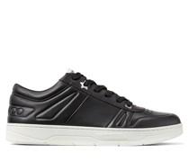 Hawaii/m Sneakers aus schwarzem Kalbsleder mit Schnürung