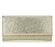 Milla Brieftasche aus Glitzergewebe in Champagner