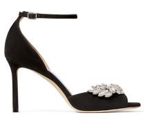 Tris 85 Sandaletten aus schwarzem Wildleder