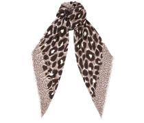 Jana H6S073860 Schal aus grauem Kaschmir-Modal-Gemisch mit Leoparden-Print