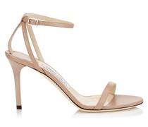 Minny 85 Sandalen aus Ziegenleder in Ballettrosa