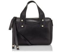 Allie Handtasche aus schwarzem Nappaleder