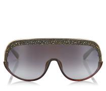Siryn Sonnenbrille mit goldenem Gestell und goldenen Spiegelgläsern